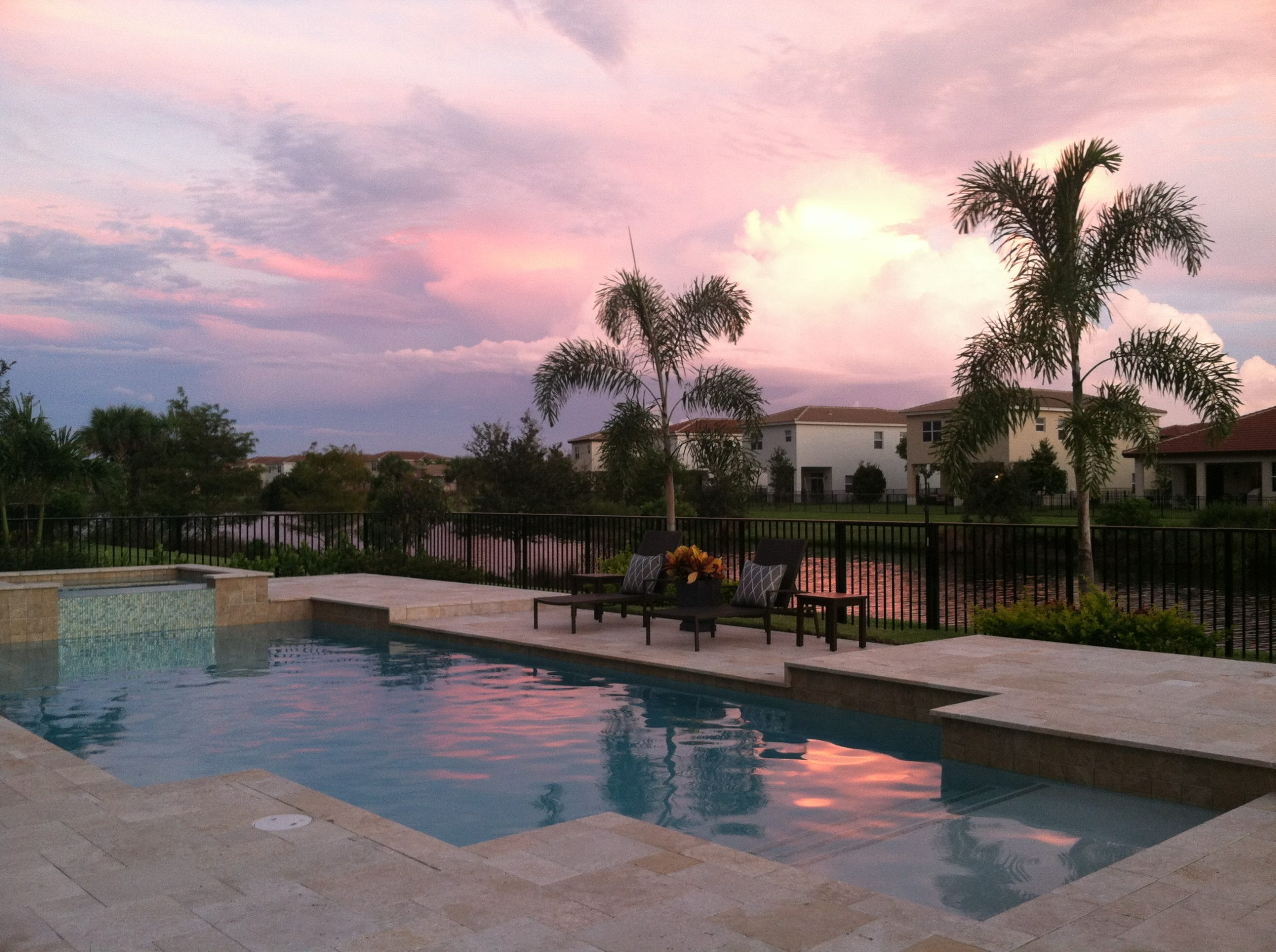 rhr pools of jupiter fl classic shaped pool with raised spa
