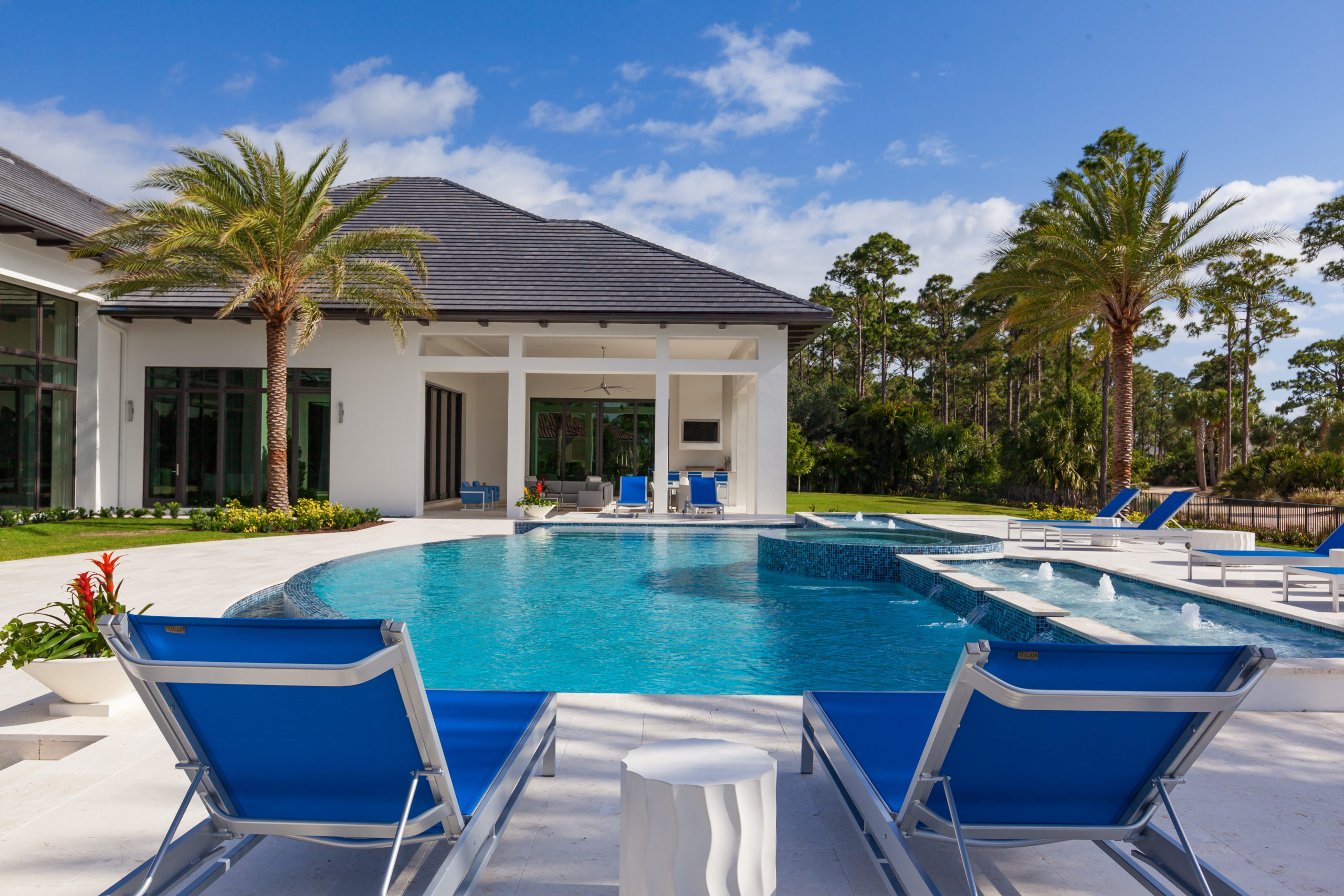 rhr pools of jupiter fl infinity edge pool with spa and water features