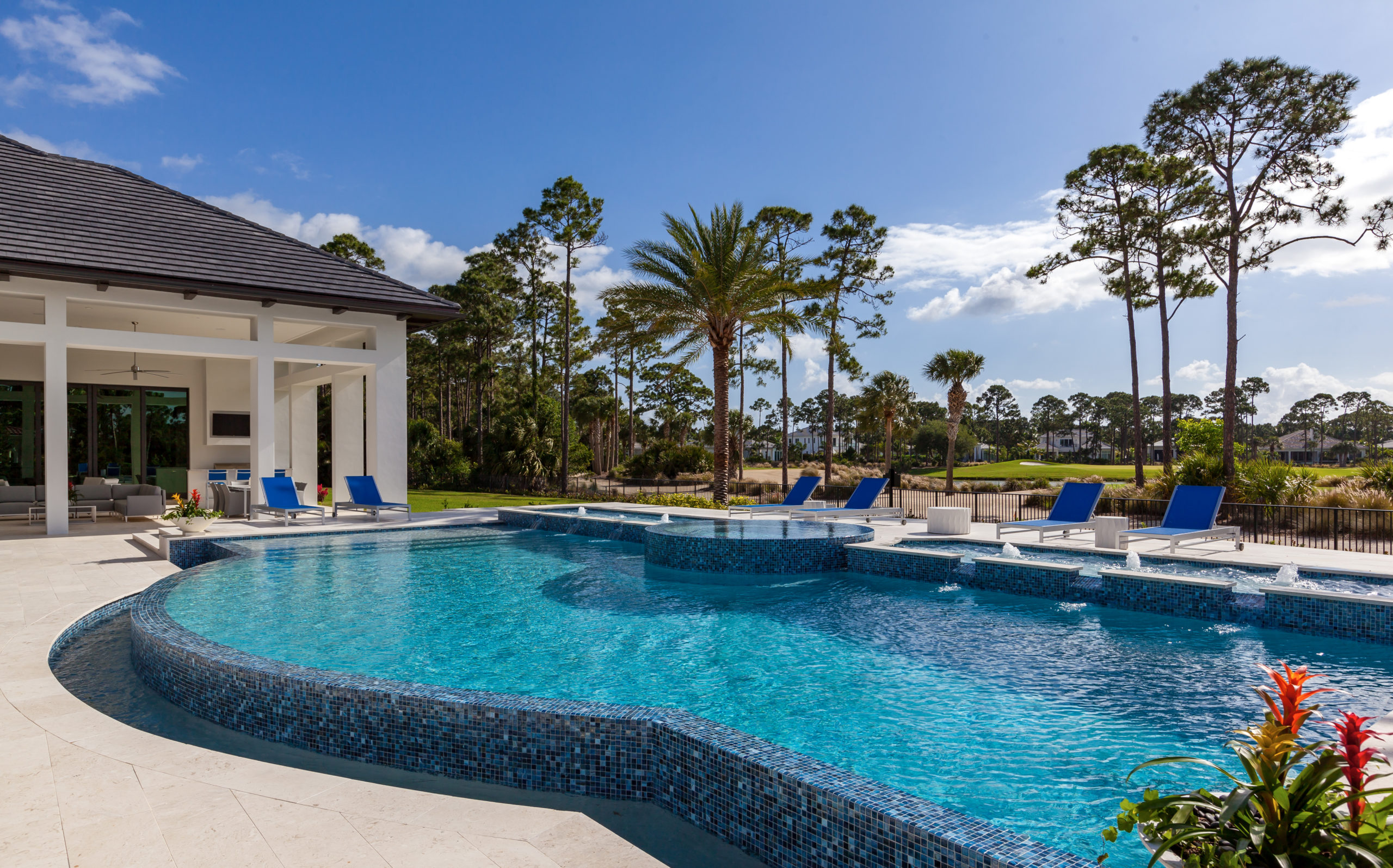 rhr pools of jupiter fl large pool with infinity edge