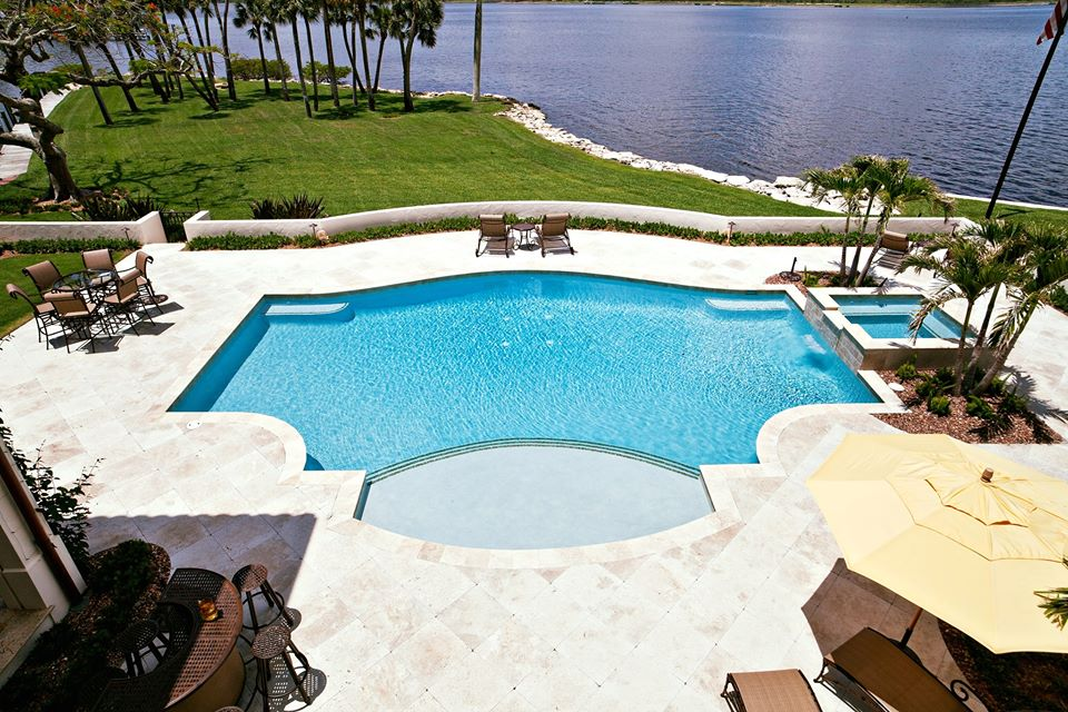rhr pools of jupiter fl large custom pools for jupiter homes