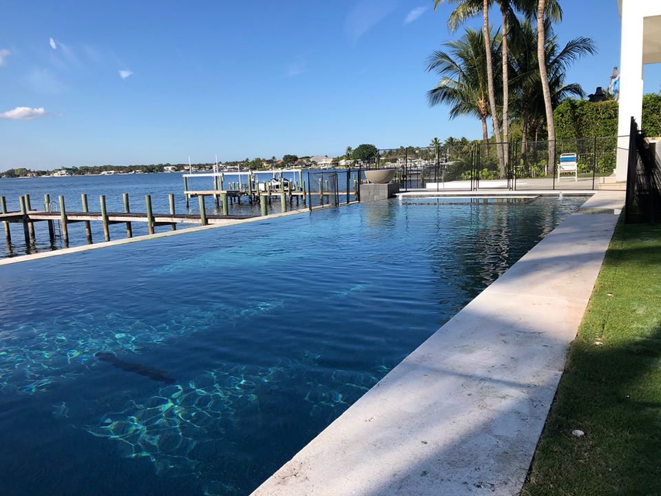 rhr pools of jupiter fl large rectangular pool with infinity edge