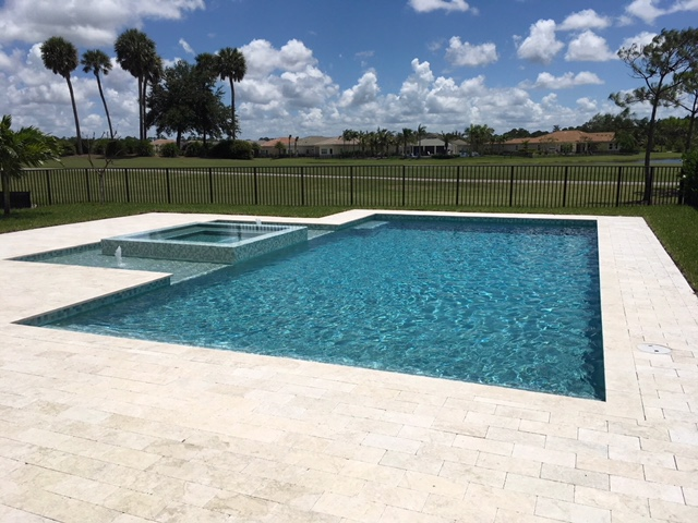 rhr pools classic shaped pool for golf course community in palm beaches