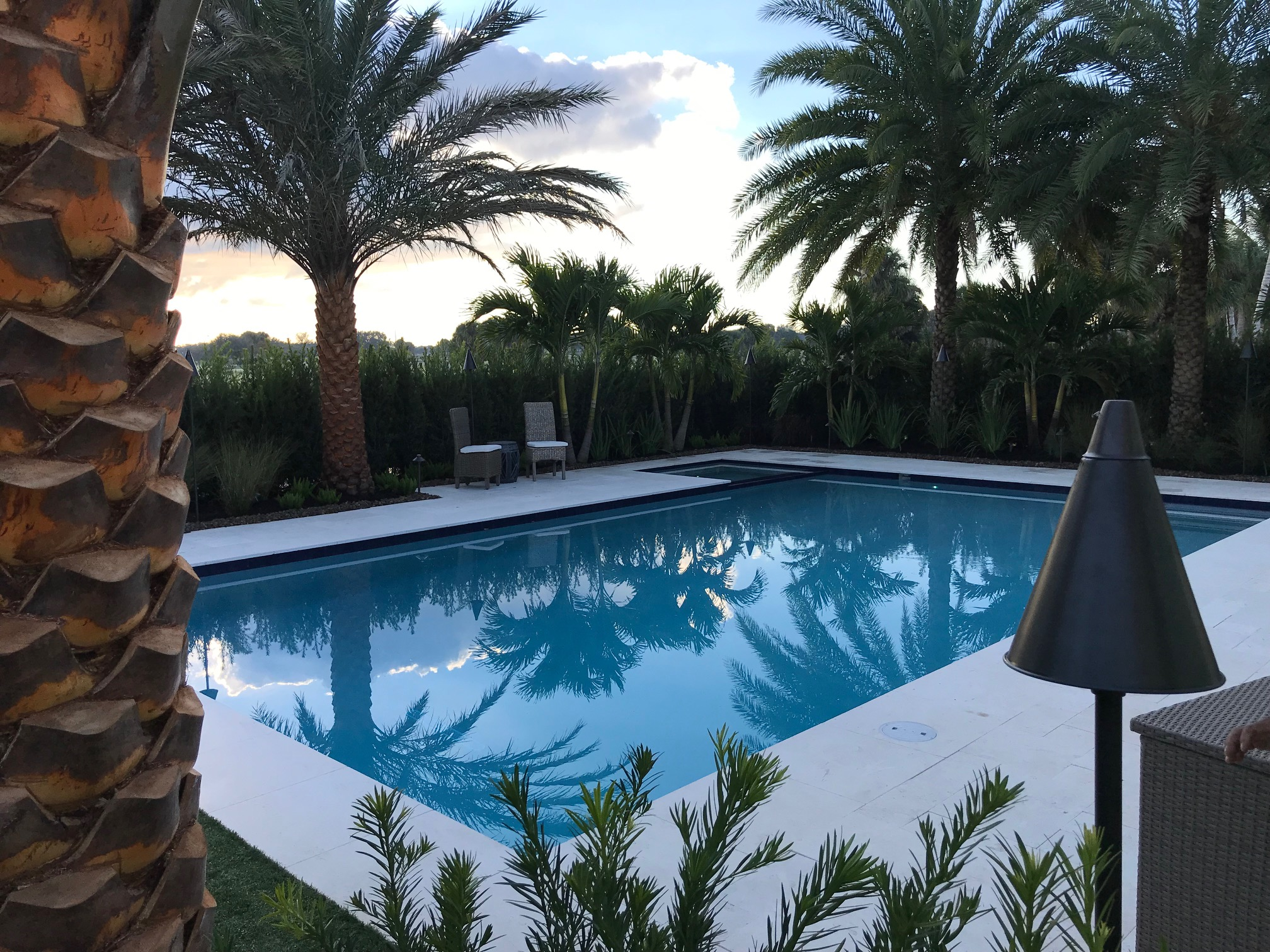 rhr pools of jupiter fl rectangular pool with spa