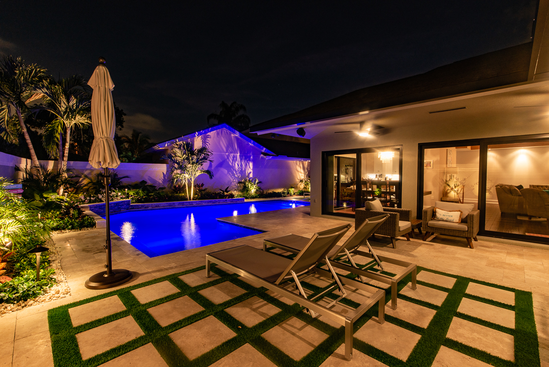 rhr pools of jupiter fl led pool with raised wall