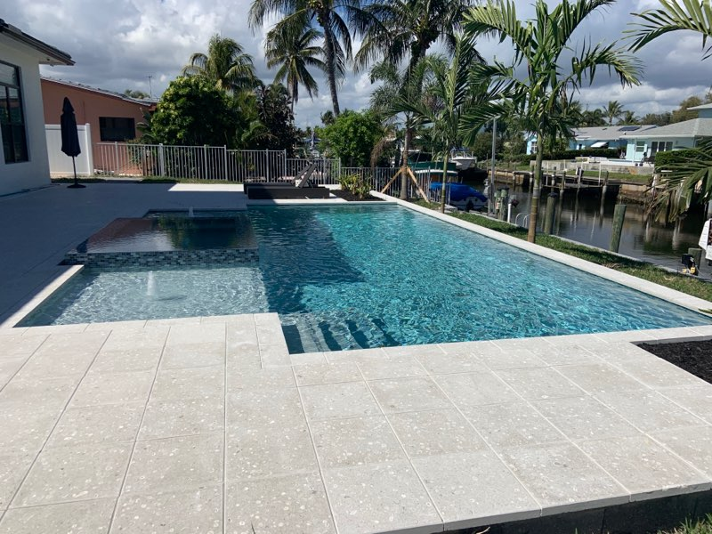 rhr pools sunshelves with spa for waterfront home in jupiter fl