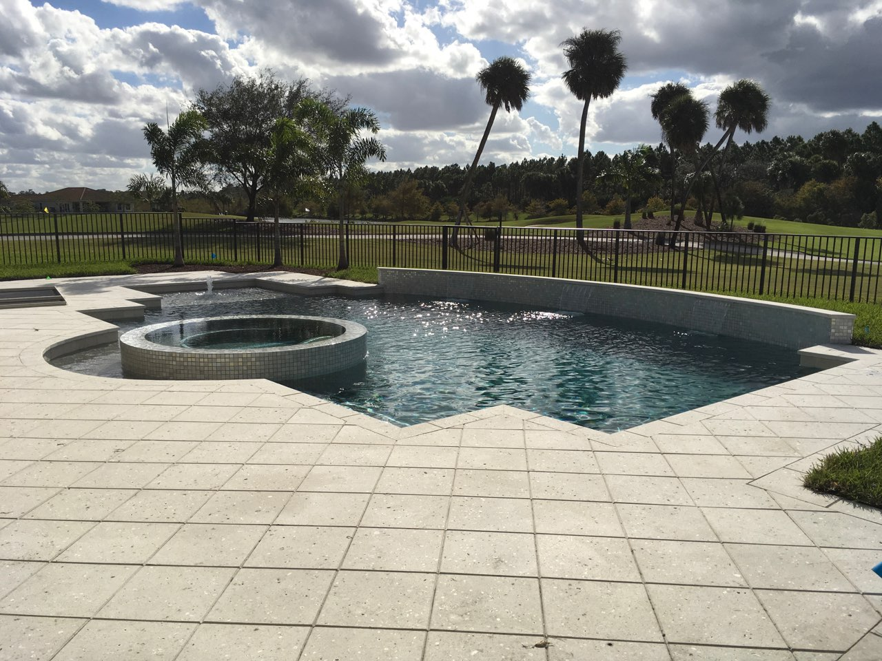 rhr pools of jupiter fl gorgeous custom pool for this golf course community home