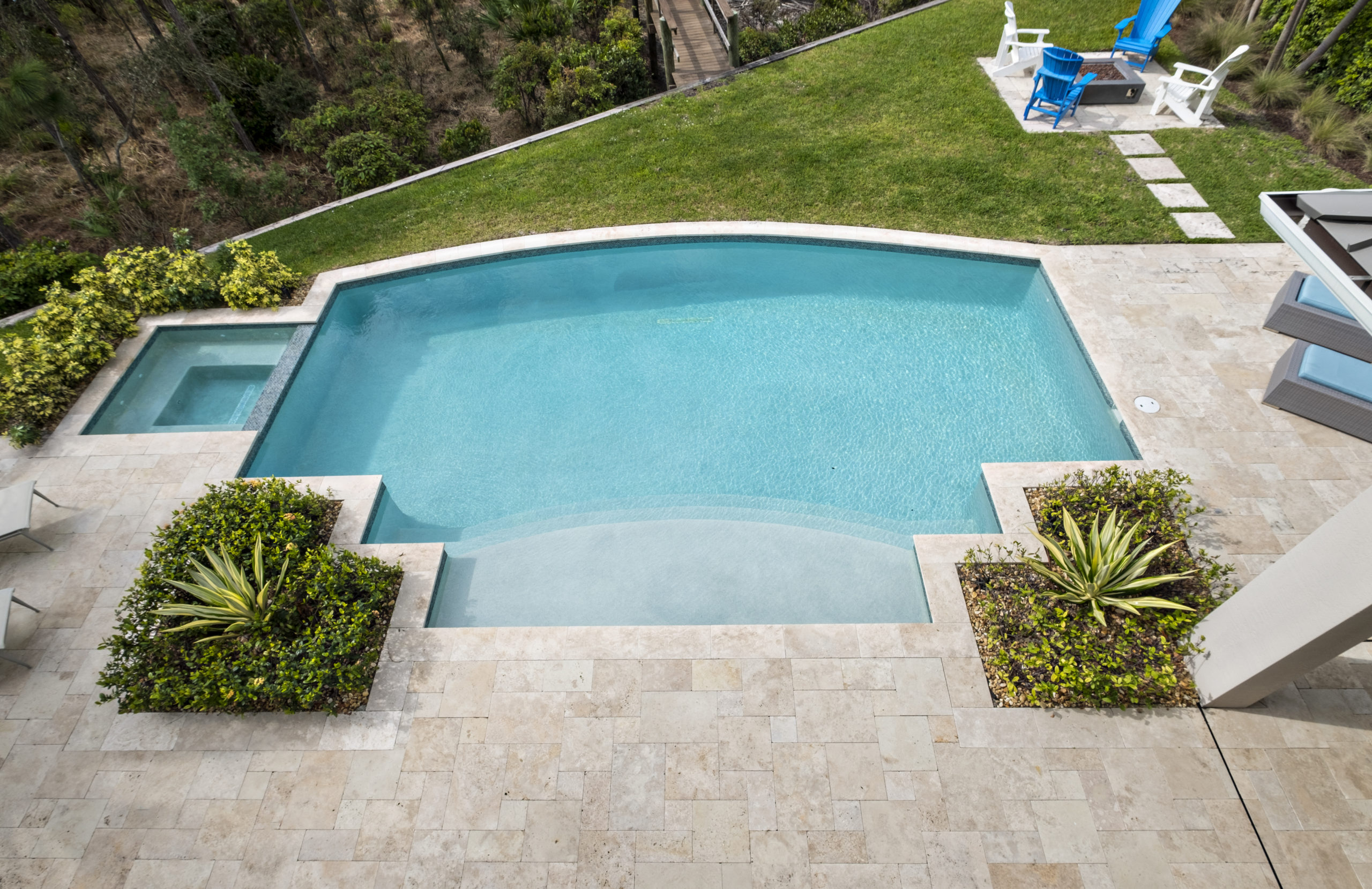 rhr pools of jupiter fl classic shaped pool with spa