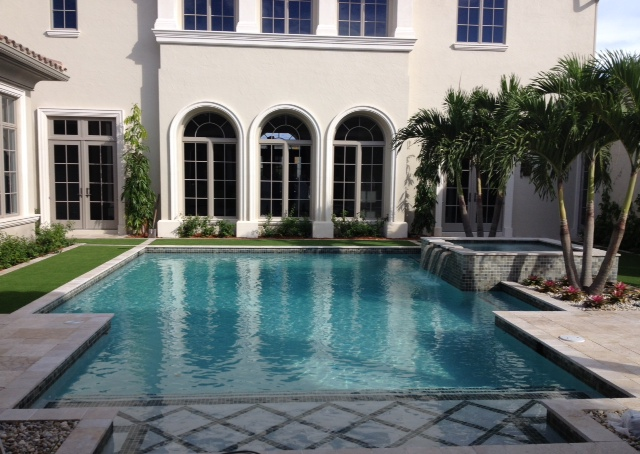 rhr pools beautiful classic pool with tile design in sunshelf