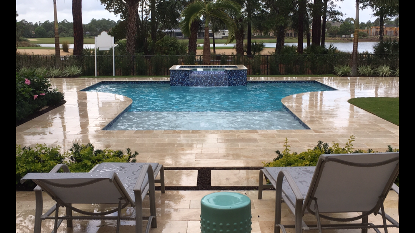 rhr pools of jupiter fl large sunshelf with raised spa