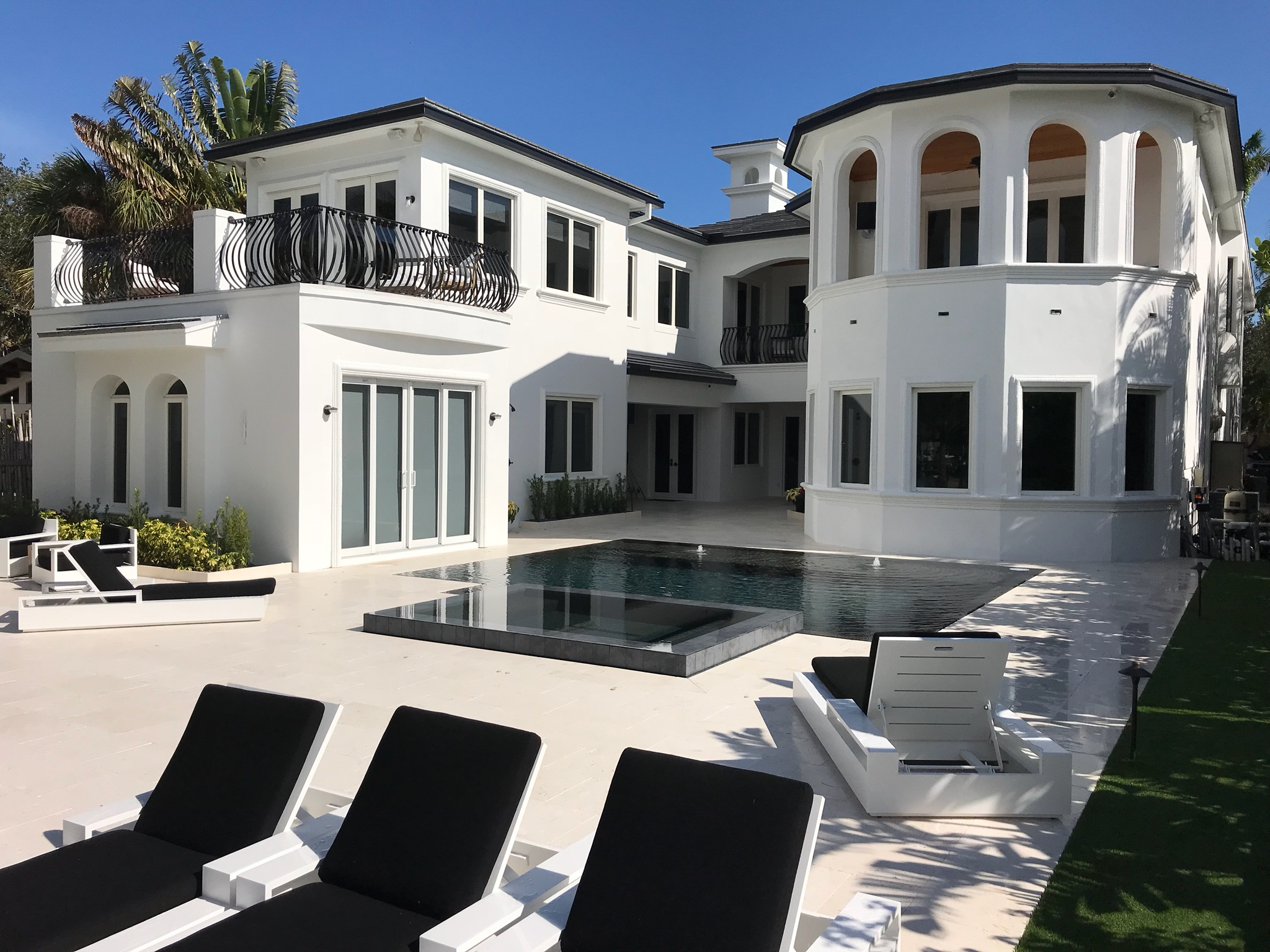 rhr pools luxurious dark interior pool for florida home