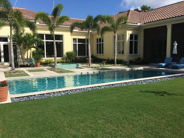 rhr pools rectangular pool with separate spa for jupiter fl home