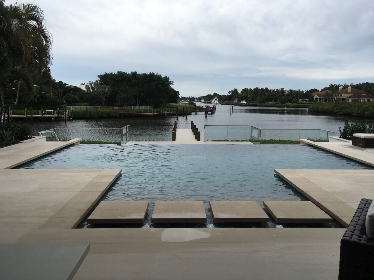 rhr pools of jupiter fl gorgeous infinity edge pool with steps overlooking the water