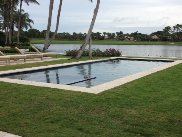 rhr pools infinity edge spa and pool for lakefront home in palm beaches fl