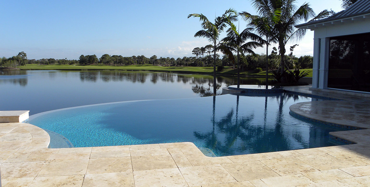 rhr pools of jupiter fl gorgeous custom pool with infinity edge