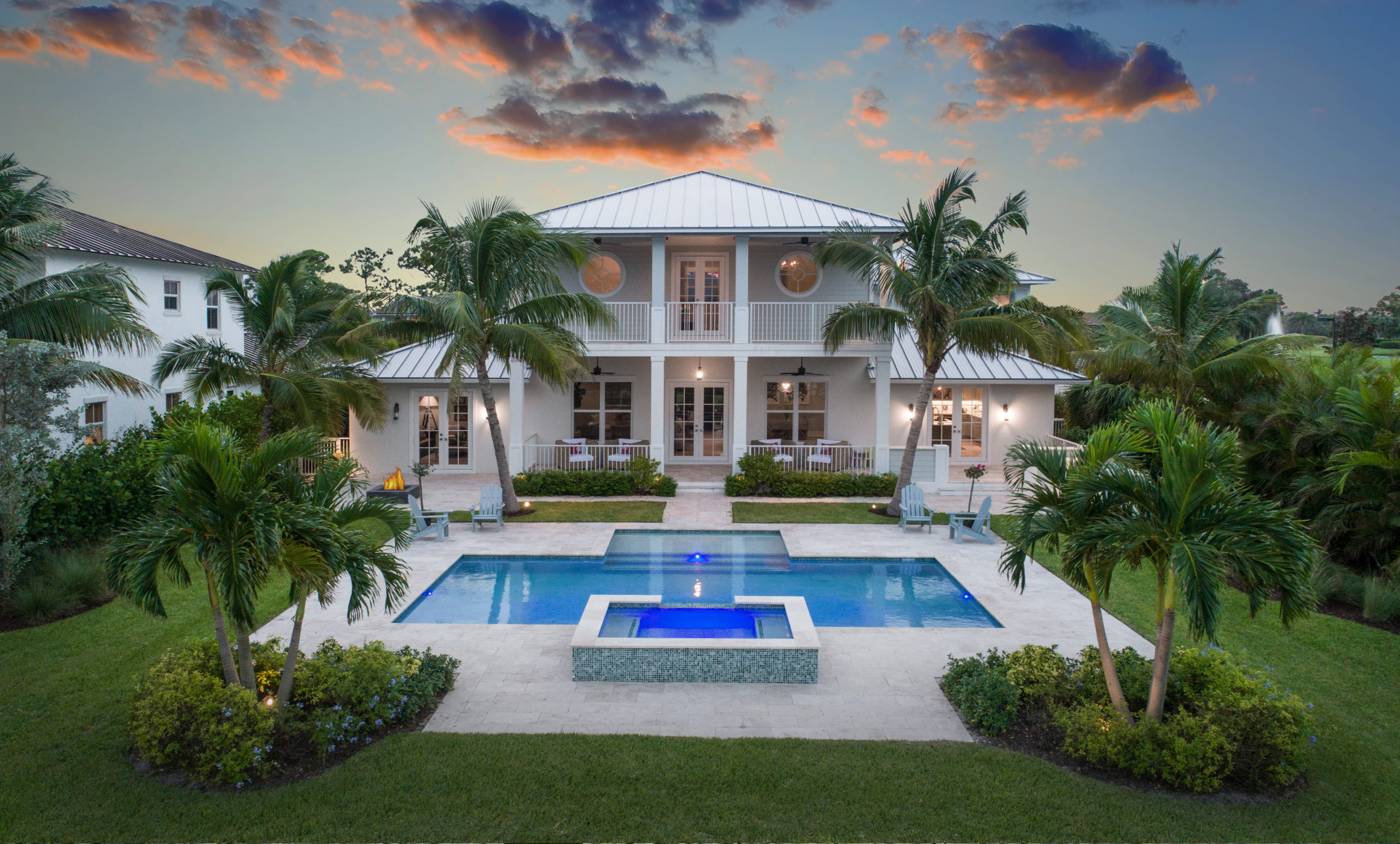 rhr pools of jupiter fl oversized step and raised spa
