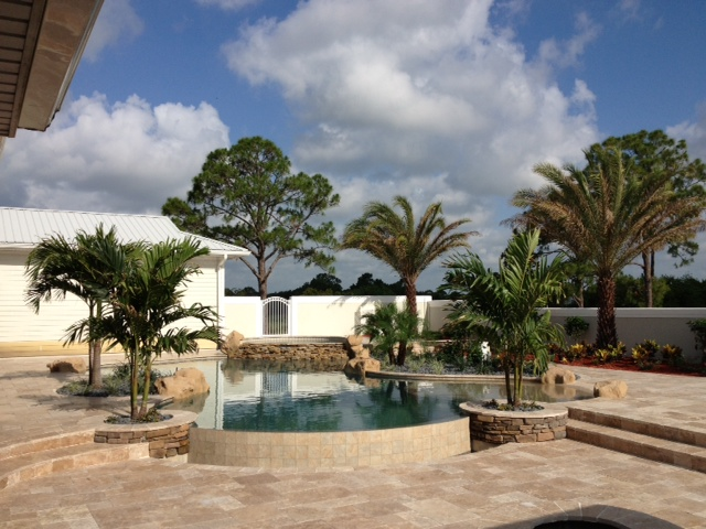 rhr pools rock features and organic shaped pool for jupiter fl home
