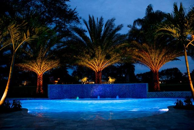 rhr pools led lighting with water feature jupiter fl